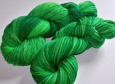 Hand Painted Superwash Merino/Nylon 4-Ply Sock Yarn -- Wicked