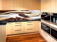 VR Art Glass Kitchen Design Printed Glass Splashback ELEMENTS Photo Art by Michael Collins