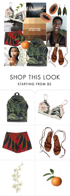 """Tropical contest"" by elliewriter ❤ liked on Polyvore featuring GET LOST, Eastpak, adidas, Nicole Miller, Scotch & Soda, Pier 1 Imports and polyvorepoc"