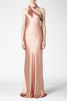 2dc7ddcea55 Winona Noemie Plunging Slit Maxi Dress
