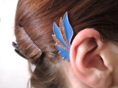 Blue Wing ear cuff wrap   glitter wing jewelry by StylesBiju, $14.90