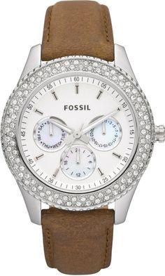 #Fossil #Watch , Fossil Women's ES2996 Stella Tan Leather Watch