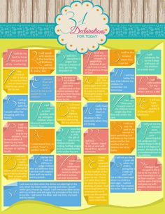 31 Declarations for Mom - from the blog #SheIsMom She Is...A Coach! — Just Joy Ministries