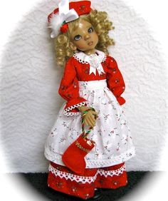 """OOAK Simply Christmas- for Kaye Wiggs 18""""BJD, MSD Dolls Hope, Layla, Others"""