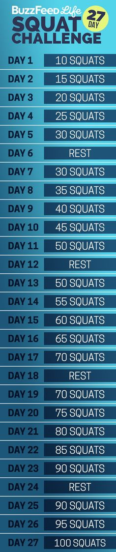 Here's your daily squat schedule: | Take BuzzFeed's 27-Day Squat Challenge, Have The Best Summer Of Your Life http://monopolymediamarketing.com/other-links/