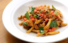 Chilli  pasta with red pesto sauce (omit the chicken for vegetarian)
