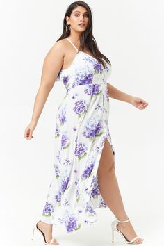 Plus Size Floral Ruffle Maxi Dress