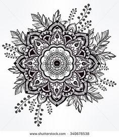 Mandala Tattoo Stock Vectors & Vector Clip Art | Shutterstock