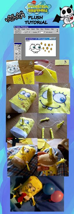 SpongeBob Plush tutorial by nitanita.deviantart.com