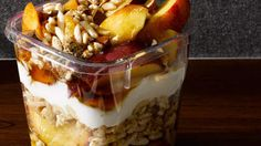 Greek Yogurt Fruit Parfait | Use September's bounty of ripe stone fruit for this yummy and satisfying parfait.