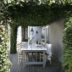 .ivy terrac, dream patio, dining spaces, back porches, house colors, pergola, outdoor spaces, outdoor areas, dream gardens