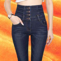 26.99$  Buy here - https://alitems.com/g/1e8d114494b01f4c715516525dc3e8/?i=5&ulp=https%3A%2F%2Fwww.aliexpress.com%2Fitem%2Fhigh-waisted-jeans-high-waisted-jeans-skinny-taille-haute-jean-fleece-jean-women-winter-slim-femme%2F32779763333.html - high waisted jeans high waisted jeans skinny taille haute jean fleece jean women winter slim femme black mujer pantalones mujer 26.99$