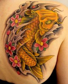 Koi by Mark Wenzel, Electric Underground Tattoo, Saskatoon, SK