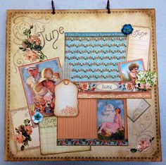 """12"""" x 12"""" perennial calendar photo album made with Graphic 45 """"Place In Time"""" paper. @Anna Nadal 45®"""