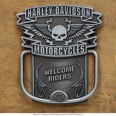 Harley-Davidson Winged Skull Door Knocker | Biker Home Decor | RetroPlanet.com