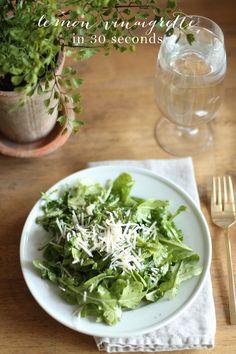 30 second lemon vinaigrette for a refreshing summer side salad!