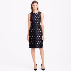 Metallic dot jacquard dress : dresses | J.Crew
