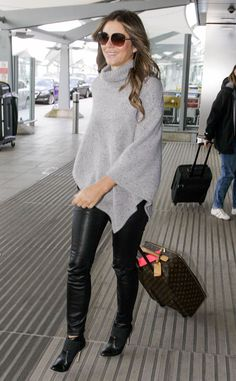 Elizabeth Hurley from The Big Picture: Today's Hot Pics  Yas, Queen Helena! The Royals star touches down at London's Heathrow airport.