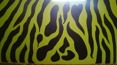 Zebra Stripes painted on G~Daughter's Bedroom wall!!