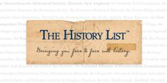The History List is used by hundreds of organizations to publicize their events #calendar #events
