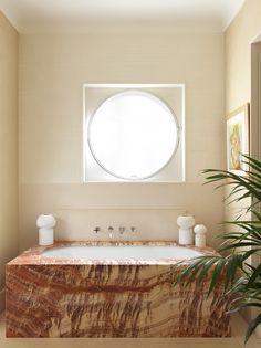 Interior Architecture, Interior And Exterior, Interior Design, Painted Brick Walls, Clarence House, Contemporary Fabric, Paris Apartments, Art Deco Period, Bathroom Interior