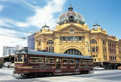 2 Melbourne Icons: Flinders St Station and the free Tourist Tram that circles the city. Melbourne, in Victoria, Australia ~ Vic Australia, Victoria Australia, Melbourne Australia, Australia Travel, Melbourne Tram, Melbourne Shopping, Visit Melbourne, Melbourne Attractions, Melbourne Victoria
