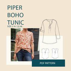 Tunic PDF sewing pattern for women – Wardrobe By Me