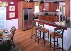 Red Kitchen Walls whiteappliances | Powells in Sicily!: Decorating Advice- Kitchen