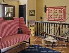 """Quotable: """"There's so much hustle and bustle in the world. You come into a primitive room and it's cozy and welcoming. It's a refuge, and that's what your home is supposed to be."""" -homeowner Camille Galati-Naeger in the article, """"A Rustic Romance"""" in our March 2015 issue"""