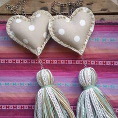 Boho Chic, Shabby Chic, Felt Crafts, Diy Bedroom Decor, Heart Shapes, Decoupage, Easy Diy, Baby Shower, Crafty