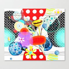 Rupydetequila Childrens Illustrations 2014  Stretched Canvas by Ruth Fitta Schulz