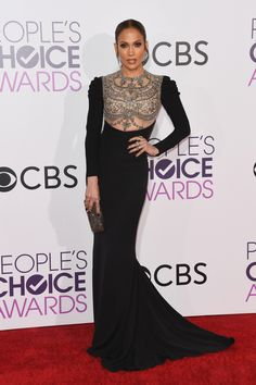 LOS ANGELES, CA - JANUARY 18: Actress/singer Jennifer Lopez attends the People's Choice Awards 2017 at Microsoft Theater on January 18, 2017 in Los Angeles, California. (Photo by Alberto E. Rodriguez/Getty Images) via @AOL_Lifestyle Read more: https://www.aol.com/article/entertainment/2017/01/18/peoples-choice-awards-2017-red-carpet-arrivals/21657915/?a_dgi=aolshare_pinterest#fullscreen