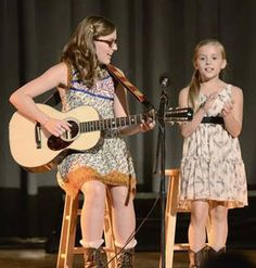 Amazing girls...Lennon and Maisy Stella.  They Play Rayna's Daughters on the show Nashville. YouTube them!