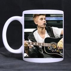 Mug for U singer Justin Bieber Custom White Mug Coffee Cup >>> Special cat product just for you. : Cat mug