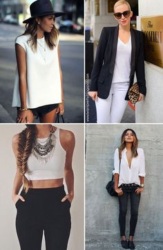 47a9845fe1 I want pretty  LOOK-Outfits en blanco y negro para Primavera Verano!