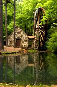 Water Wheel at Martha Berry College - Rome, Georgia Beautiful World, Beautiful Places, Beautiful Pictures, Simply Beautiful, Croquis Architecture, Rome Georgia, Georgia Usa, Georgia United, Savannah Georgia