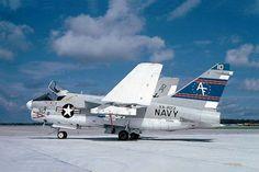 153242 AF:310 A-7A Corsair II of VA-203 The Blue Dolphins - © Michel van Klaveren