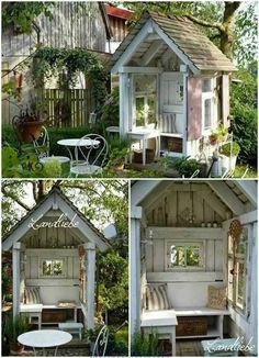 ♥♥♥♥ – Garten – - Garden Shed Backyard Sheds, Backyard Patio, Backyard Landscaping, Garden Sheds, Garden Cottage, Home And Garden, Diy Garden, Garden Path, Garden Crafts