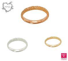 Alliances Estretat - Or rose, blanc et jaune  #bridal #wedding #ring #estretat