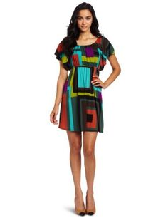 Tiana B Women's Girly Geo Dress, Multi, Large Tiana B $60