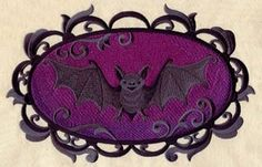 Bat Cameo Embroidered Flour Sack Hand/Dish by EmbroideryEverywhere, $13.99  Love it! Want it.