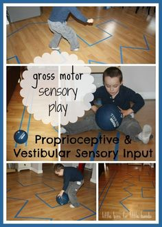 Simple Indoor Gross Motor Sensory Play Ideas from Little Bins for Little Hands