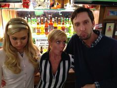 Fun times on set of 'Jennifer Falls' w/ Nora Kirkpatrick, Jaime Pressly and Joel David Moore