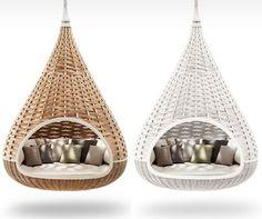 Woven Hanging Lounger Nestrest Furniture
