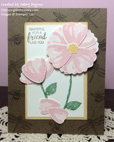 Stampin' Up! Bunch of Blossoms and Touches of Texture sets, Blossom Builder Punch.