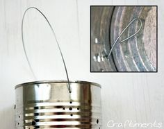 tin can solar lantern tutorial, diy, how to, outdoor living, repurposing upcycling, Step 5 Make a handle out of steel wire