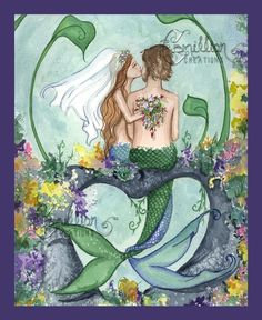 Perfect Calm Mermaid Print from Original Painting By Camille Grimshaw