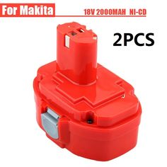 68.00$  Buy here - http://aibh0.worlditems.win/all/product.php?id=32721828869 - 2PCS Ni-CD 18V 2000mAh Power Tools Rechargeable Drill Battery for Makita Cordless Drill PA18 1822 1823 1833