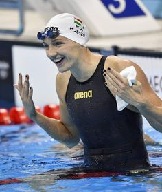 Katinka Hosszu - Los triunfadores de Río 2016 - 20minutos.es Swimming Gear, Keep Swimming, Swimming Pictures, Swimming Motivation, Racing Swimsuits, Olympic Swimmers, Women Volleyball, Swim Caps, Water Polo