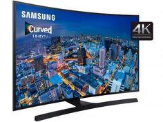"""Smart TV LED Curva 55"""" Samsung 4K/Ultra HD - UN55JU6700 Wi-Fi 4 HDMI 3 USB"""